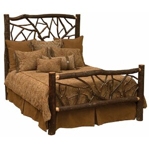 Hickory Panel Bed by Fireside Lodge
