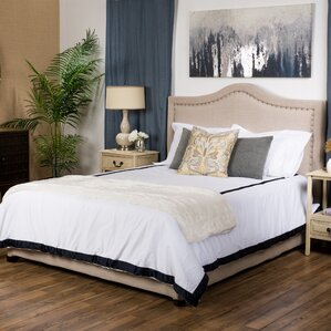 Queen Upholstered Panel Bed by House of Hampton