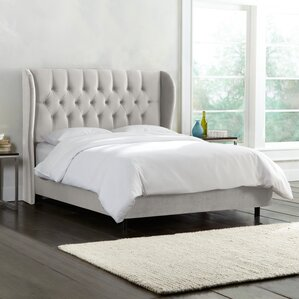 Upholstered Panel Bed by House of Hampton
