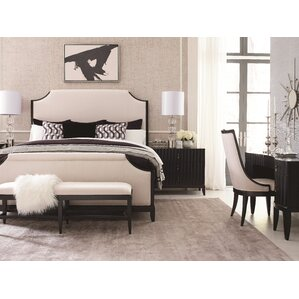 Symphony Upholstered Panel Bed by Legacy Classic Furniture