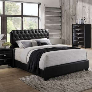 Blemerey Upholstered Platform Bed by Roundhill Furniture