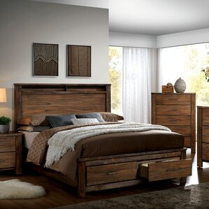 Brookdale Storage Platform Bed by A&J Homes Studio