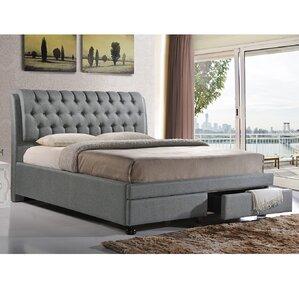 Baxton Studio Upholstered Storage Platform Bed by Wholesale Interiors