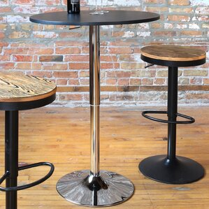 Serio Adjustable Height Pub Table By Varick Gallery Top Reviews