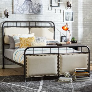 Queen Upholstered Panel Bed by Mercury Row®
