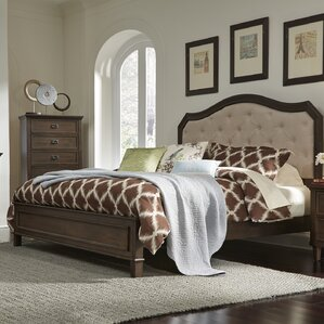 Dunamoy Upholstered Panel Bed by Rosalind Wheeler