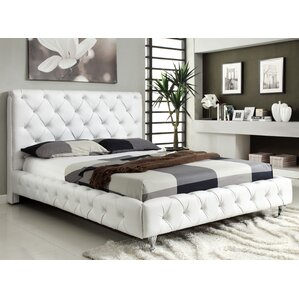 Maria Upholstered Platform Bed by At Home USA