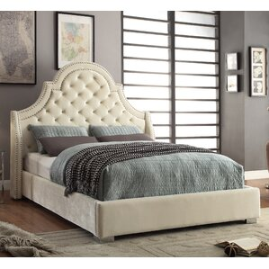 Upholstered Platform Bed by Meridian Furniture USA