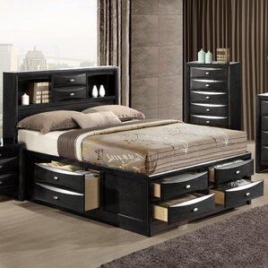 Linda Storage Platform Bed by Global Furniture USA