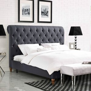 Loehr Upholstered Platform Bed by House of Hampton