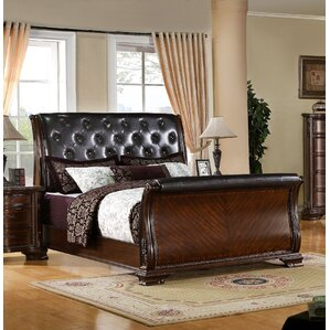 Rayners Upholstered Sleigh Bed by Rosalind Wheeler