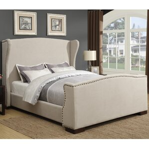 Wingback Upholstered Platform Bed by Best Quality Furniture
