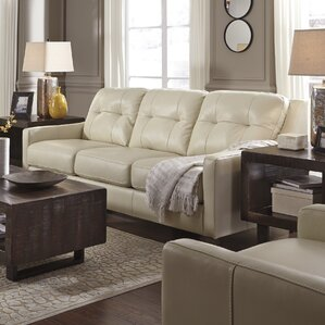 Stouffer Leather Queen Sleeper Sofa by Red Barrel Studio Reviews
