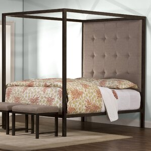 Arette Upholstered Canopy Bed by Laurel Foundry Modern Farmhouse