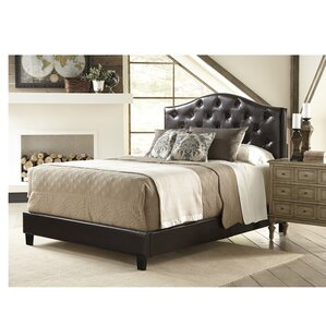 All-N-One Queen Upholstered Panel Bed by PRI