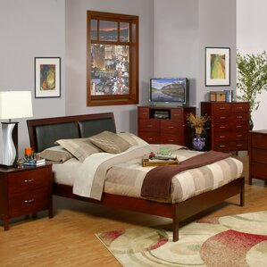 Newport Upholstered Platform Bed by Alpine Furniture