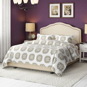 Boston Upholstered Panel Bed by Three Posts