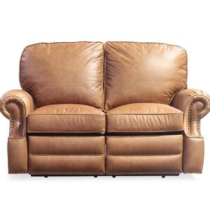 Longhorn leather reclining loveseat by barcalounger on sale loveseats Reclining loveseat sale