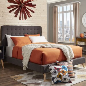 Blakeman Upholstered Panel Bed by Mercury Row®