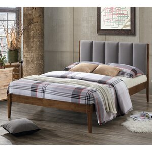 Baxton Studio Rachele Mid-Century Fabric and Wood Full Size Platform Bed by Wholesale Interiors