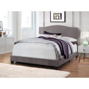Etna Modified Camel Back Upholstered Panel Bed by Trent Austin Design®