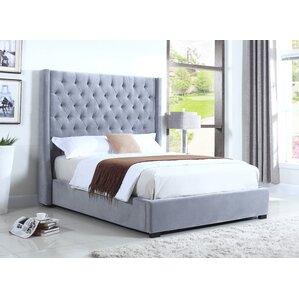 High Profile Upholstered Platform Bed by BestMasterFurniture