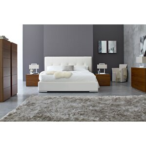Swami Upholstered Platform Bed by Calligaris