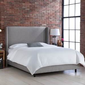 Wingback Upholstered Panel Bed by Skyline Furniture