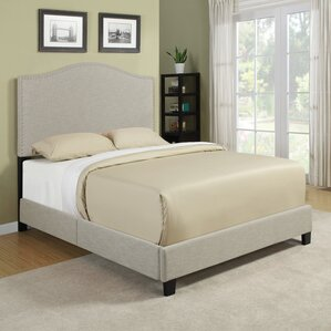 Queen Upholstered Panel Bed by Handy Living