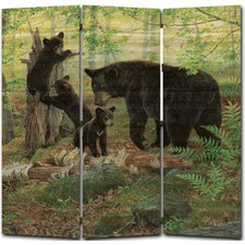 68 x 68 Playtime Bears 3 Panel Room Divider by WGI-GALLERY