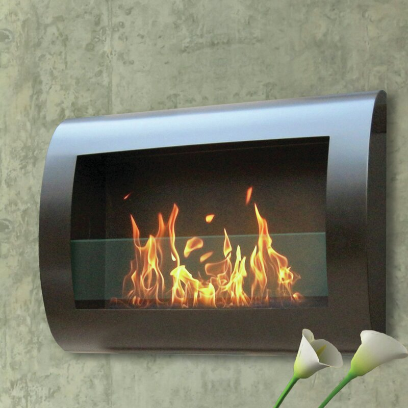 Fireplace Design touchstone fireplace : Anywhere Fireplace Chelsea Wall Mount Bio-Ethanol Fireplace ...