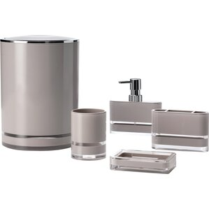 Contemporary Bathroom Accessories Sets Silver Set 15 For Decorating