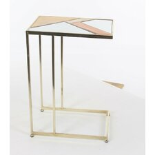 Colberta Metal Mirror End Table by Latitude Run