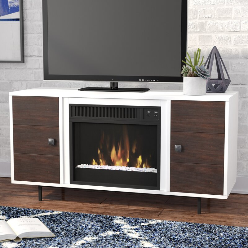 Fireplace Design tv stand with fireplace : Brayden Studio Mattocks 47