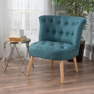 Leudelange Claudia Tufted Slipper Chair by Bungalow Rose