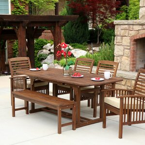 Delightful Last Frontier 6 Piece Dining Set With Cushion