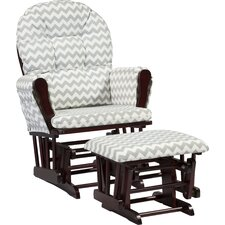 Gray Chair And A Half With Ottoman