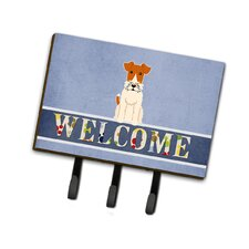 Wire Fox Terrier Welcome Leash or Key Holder by Caroline's Treasures