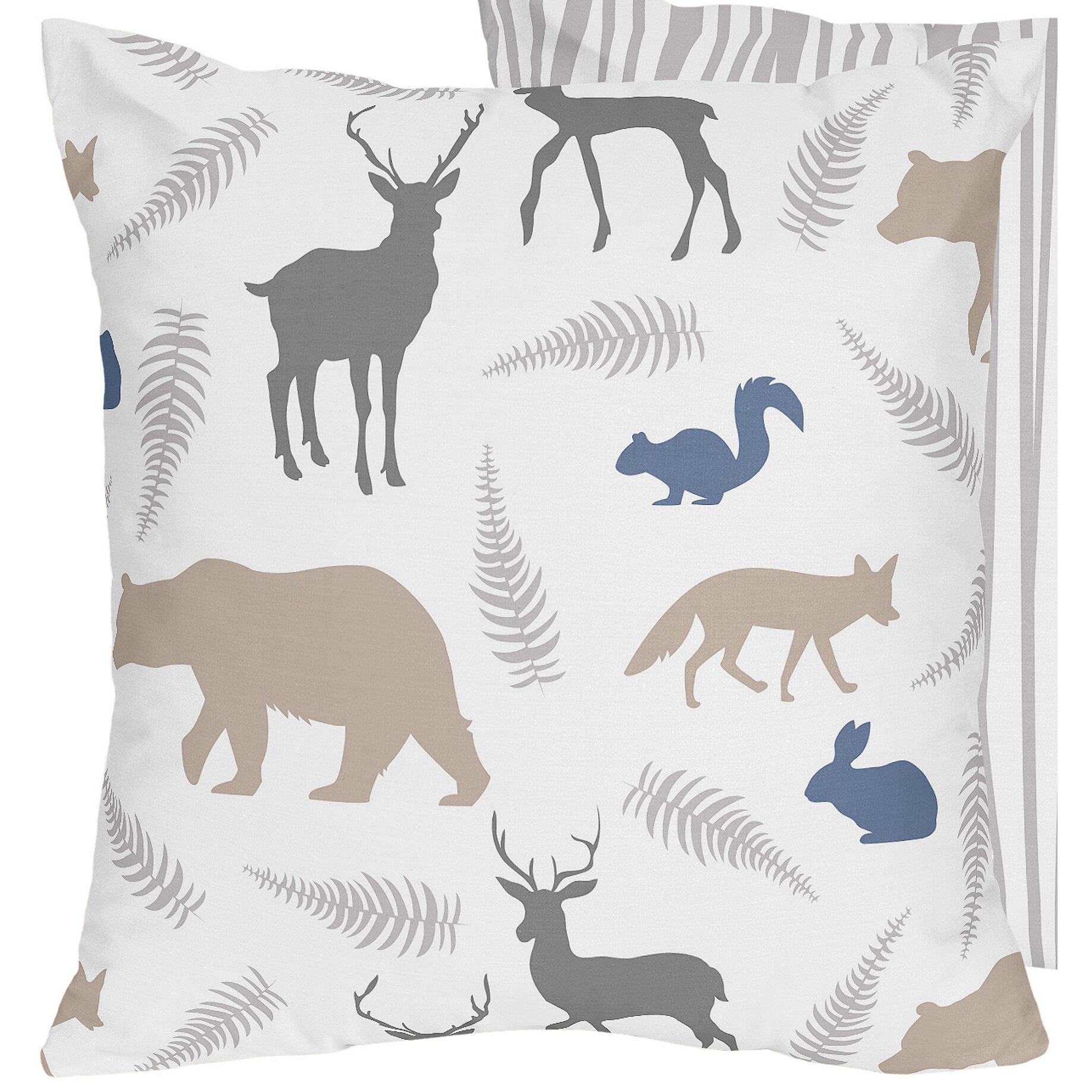 Sweet Jojo Designs Woodland Animals Decorative Accent Throw Pillow & Reviews Wayfair