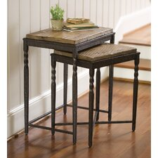 Metal and Wood Nesting Tables, Set of 2 by Plow & Hearth