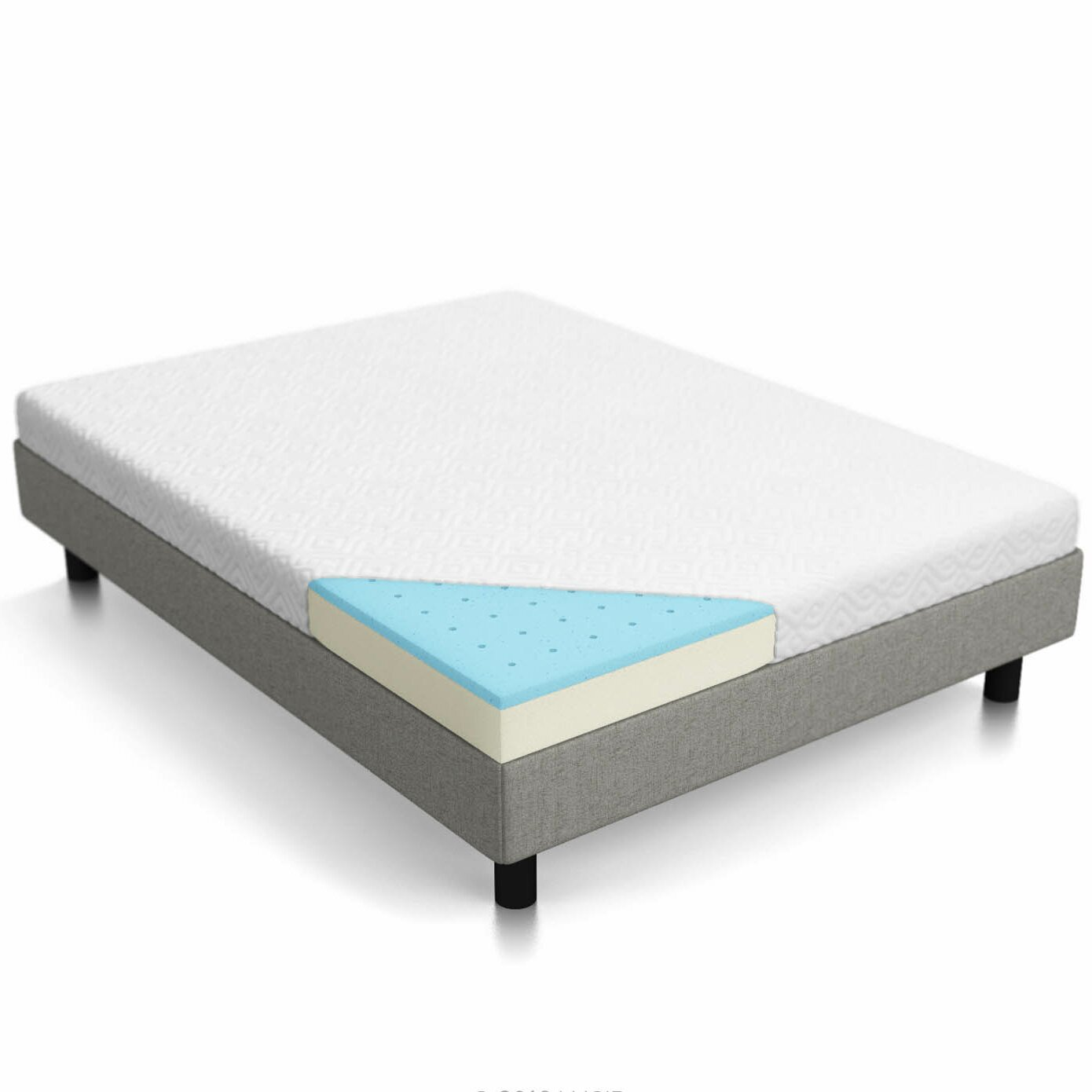 Lucid 5 Firm Gel Memory Foam Mattress Reviews Wayfair