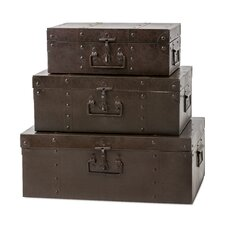 Persimmon 3 Piece Metal Trunk Set by Trisha Yearwood Home Collection