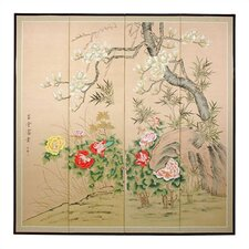 72 x 72 Harmony in Nature 4 Panel Room Divider by Oriental Furniture