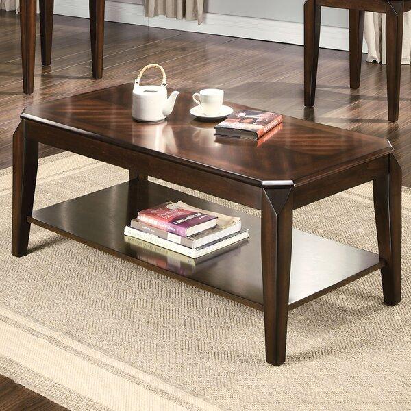 acme furniture docila walnut 3 piece coffee table set & reviews