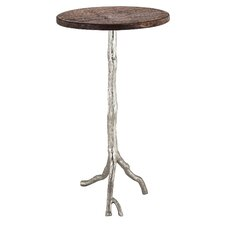 Zola Wood/Nickel End Table by One Allium Way
