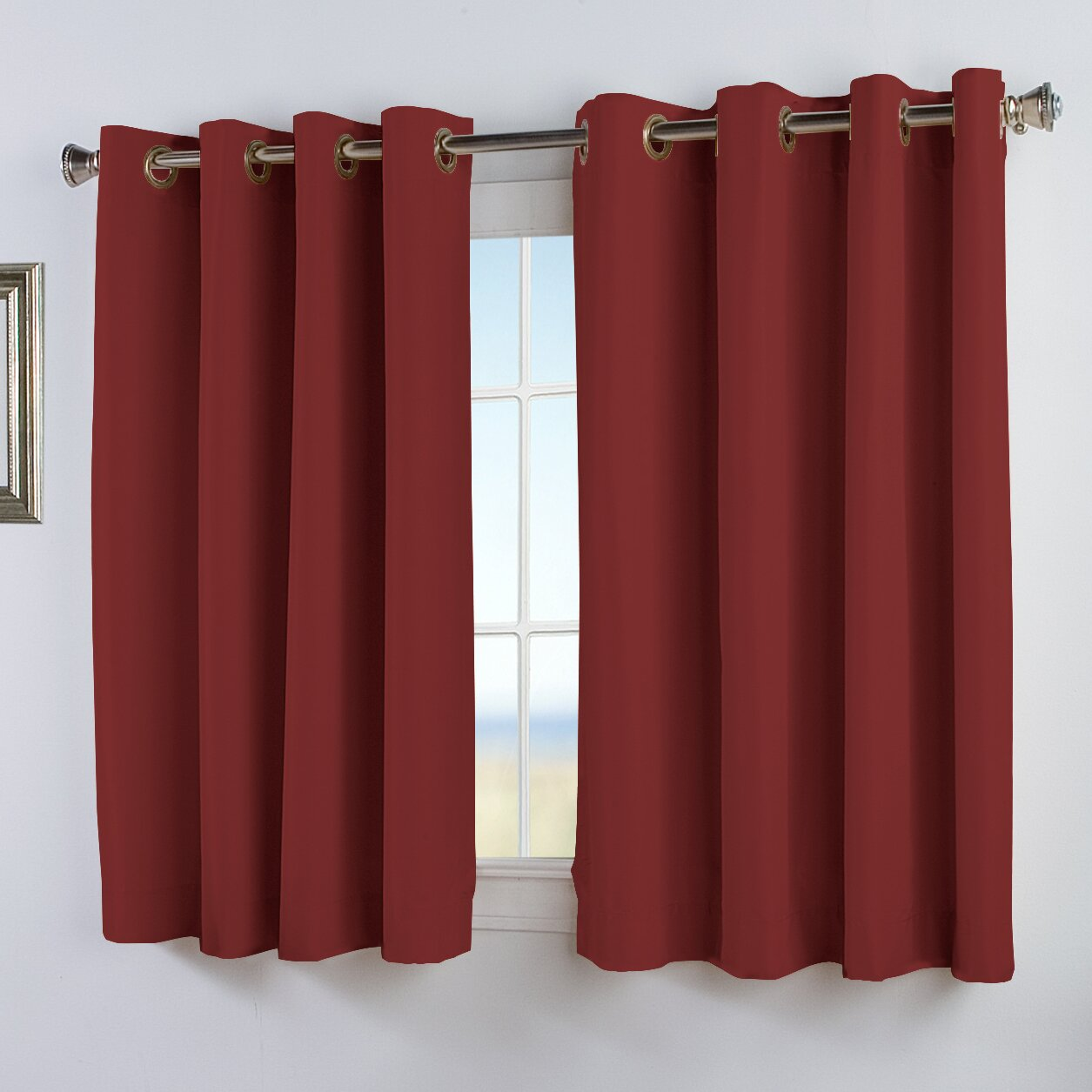 Ricardo Trading Elegance Insulated Solid Blackout Thermal Grommet Single Curtain Panel Reviews