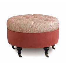 Rena Carnation Round Ottoman by Eastern Accents