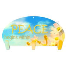 Peace Within 3 Hook Coat Rack by Next Innovations