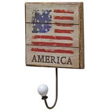 America Flag Wall Hook by The Hearthside Collection