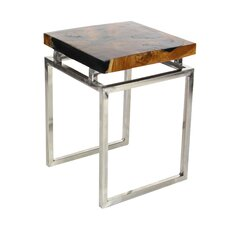 Teak/Metal 2 Piece End Table Set by Cole & Grey